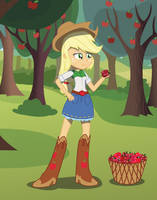 Applejack (Roses and Hearts VD 2015) by Amante56