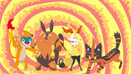Pokemon Fire Starters Gen. 4 to 7 First Evolutions by MrsLittletall