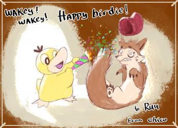 Happy birthday, Ruu! by chicoARTS