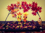3D Origami Torchic / Poussifeu by SNocturne