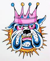Ed Hardy BullDog by TheJokesOnYou