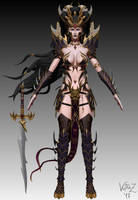 Witch Elf of Khaine #1 by VutraZ