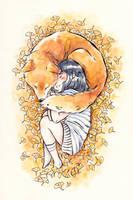 Girl and Shiba by Dunicakes