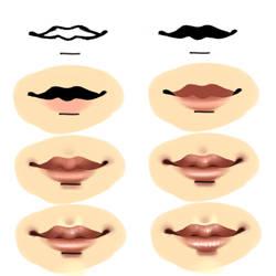Lips Process by CypressPhoenix