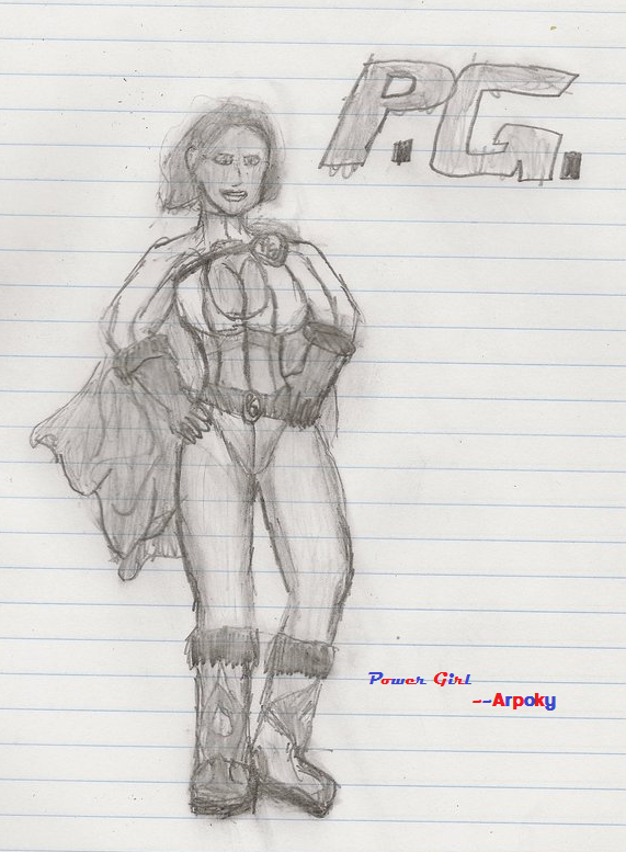 Power Girl Sketch by Arpoky by Arpoky