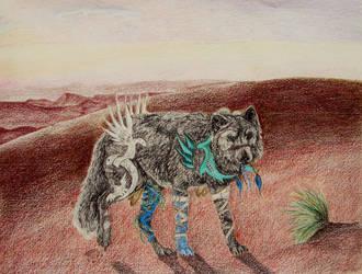 Gaiyan Patrols the Desert by ShatteredSmile