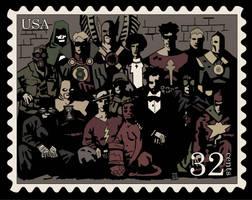 JSA meets Hellboy - Stamp by Gat0rl1veBEATZ
