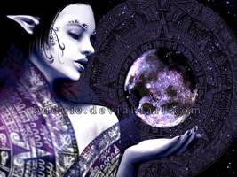 Lady Moon by sambees