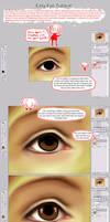 Easy Realism Eye Tutorial by sambees