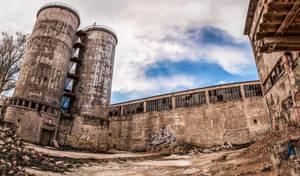 Old concrete plant by Lantret