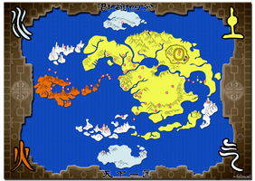 The World of Avatar Map by felinoel