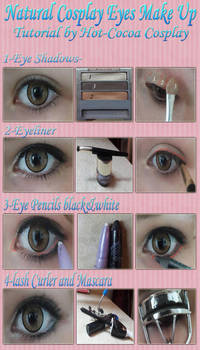 Natural Cosplay Eye Make Up Tutorial By Hot Cocoax3 On Deviantart