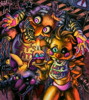 Cupcake night / Chica Mangle FNaF 2 by Mizuki-T-A