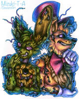 Golden duo / Springtrap Fredbear FNaF by Mizuki-T-A
