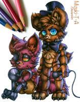 Baby Freddy and Foxy / FNaF by Mizuki-T-A