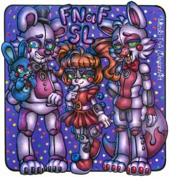 Figures of friendly machines / FNaF SL by Mizuki-T-A