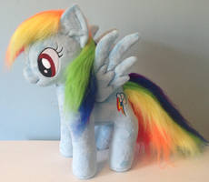 Faux Fur Rainbow Dash Plushie by Pinkamoone