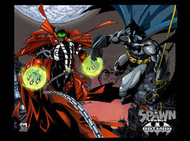 Batman-Spawn Crossover by mikems71