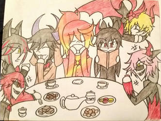 Familiar Tea Party by jacksonjekyell55