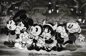 Bendy and the Toons in: The Haunted Forest! by Kirby-Popstar