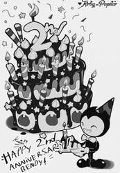 Bendy 2nd anniversary! by Kirby-Popstar