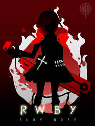Ruby Rose (Silhouette) - RWBY by CaelumPicta