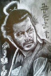 Toshiro Mifune by kowu-san
