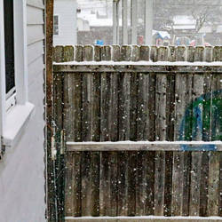 Fence in the snow by lshack