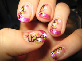 Cherry Blossom Nails by verona9