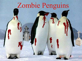 Zombie Penguins by Wolf-Sophie
