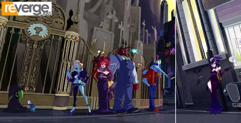 Skullgirls: New Meridian NPCs by setsuna22