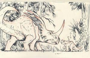 Styracosaurus 02 by JakeParker