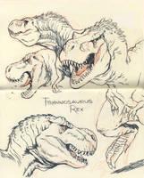 Tyrannosaurus rex 02 by JakeParker