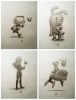 Illustrations for The Antler Boy backers by JakeParker