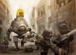 Mech Unit 76c on Patrol by JakeParker