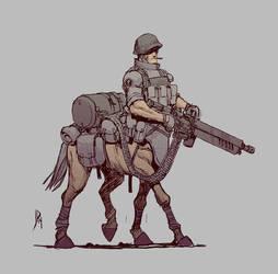 World War Centaur by JakeParker