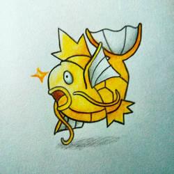 gold splash, by chromeyoshi