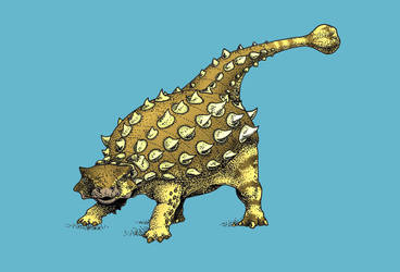 Dinovember - Day 5 - Jinyunpelta sinensis by FOSSIL1991
