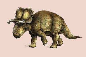 Dinovember-Day 17-Crittendenceratops kryzhanovski by FOSSIL1991