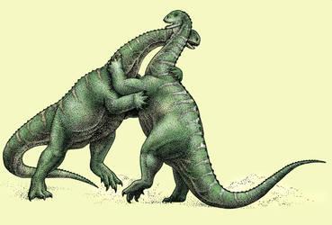Dinovember - Day 29 - Yizhousaurus sunae by FOSSIL1991