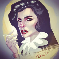 The cigarette girl by nirman