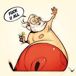 Santa Is Pissed by nirman