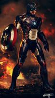 Iron Captain America. by spidermonkey23