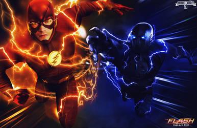 The Flash vs Zoom - Season 2 Finale by spidermonkey23