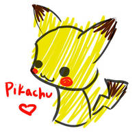 Pika doodle by Chibibluishi