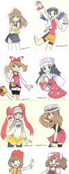 Sketch series Pokemon Trainers by Kell0x