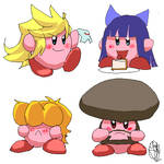 Panty and Stocking Kirbys by Triple-Q