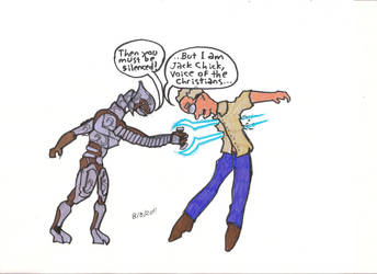 Arbiter stabs Jack Chick by Great-5