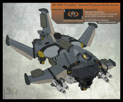 MF-D88 'Punisher' Drone Strike Fighter by Great-5