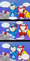 X and Zero react to Megaman Zero by MintStarMari
